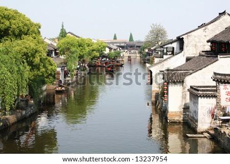 China water village - xitang - stock photo