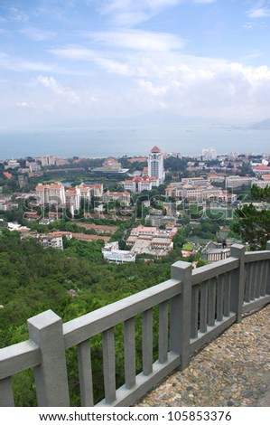 China Xiamen skyline - stock photo