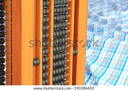 Chinese abacus - stock photo