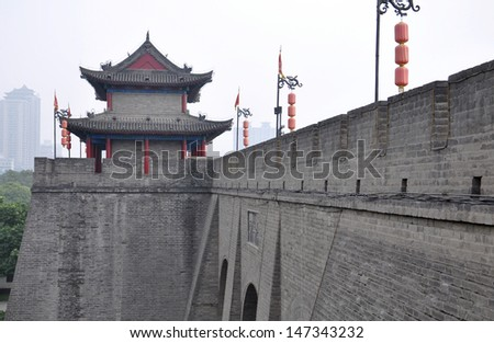 Chinese ancient buildings - stock photo