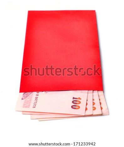 chinese angpao on white background