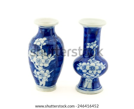 Chinese Antique old Vase,  - stock photo