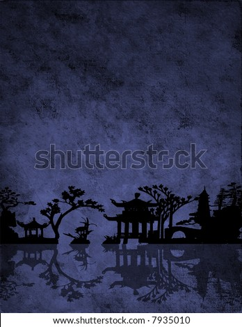 Chinese Blue - stock photo