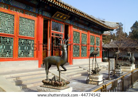 chinese building front - stock photo
