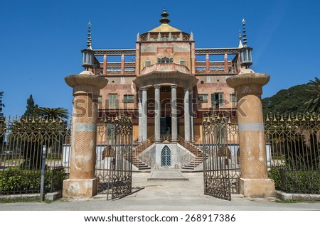 Chinese building in Palermo, Sicily, Italy, Europe