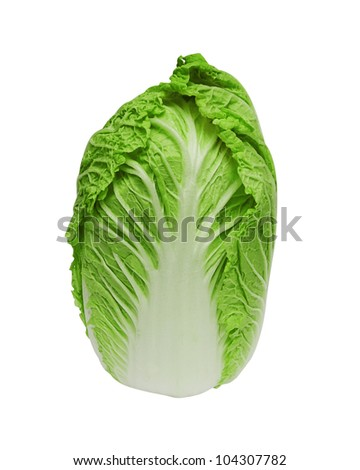 Chinese cabbage on white background - stock photo
