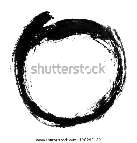 Chinese calligraphy circle shape. - stock photo