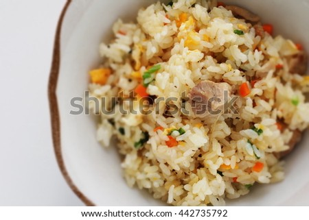 Chinese cuisine, chicken fried rice