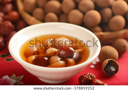 Chinese Date soup - stock photo