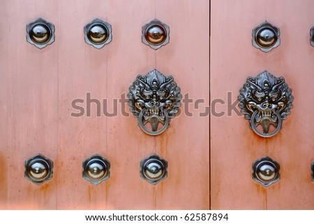 chinese door - stock photo