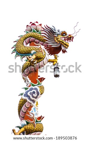 chinese dragon image on a red pold