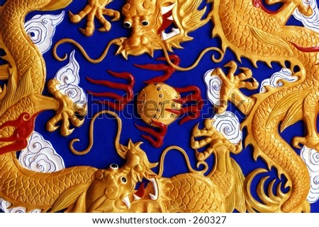 Chinese dragons - stock photo