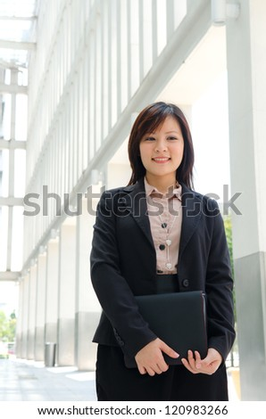 chinese female student in formal wear
