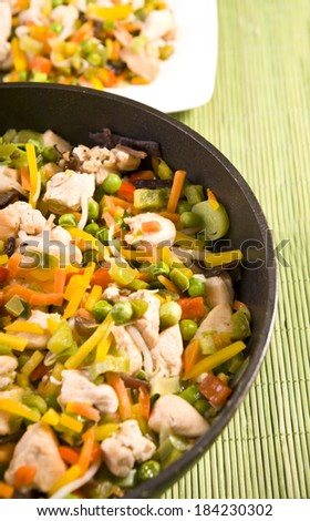 chinese food chicken with vegetables