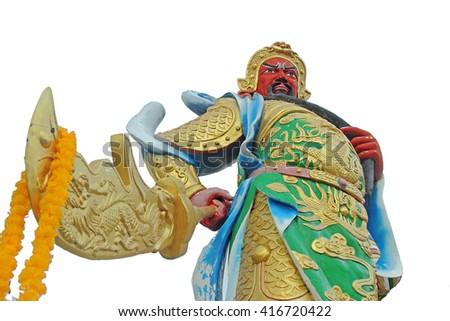 Chinese god statue