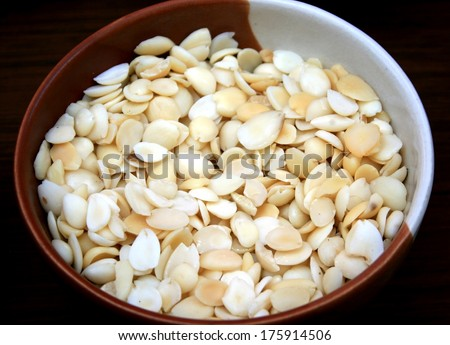 Chinese herbal medicine on wooden - stock photo