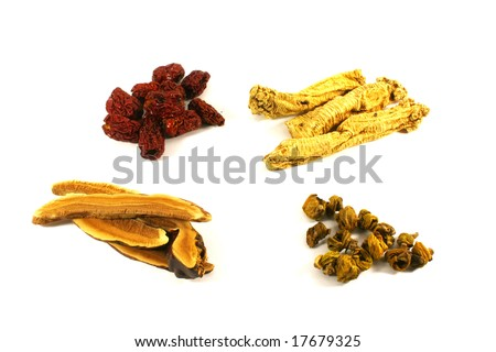 Chinese Herbal Soup Ingredients For Improving Health and Wellness - stock photo