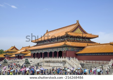 Chinese Imperial Palace, Beijing Forbidden City.