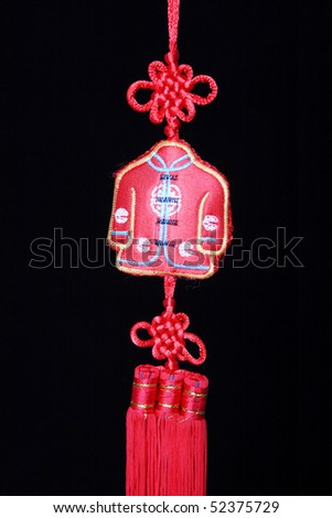 Chinese incense bag and black background