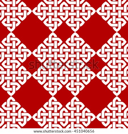 Chinese knot seamless pattern. Illustration.
