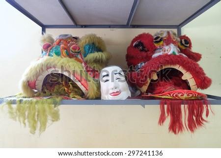 Chinese lion sleeping  - stock photo