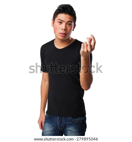 chinese man without job - stock photo