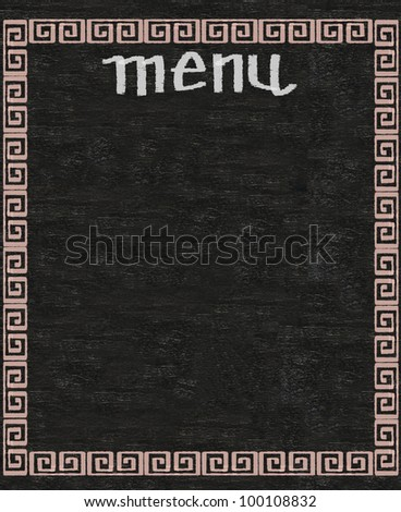 chinese menu written on blackboard background high resolution - stock photo