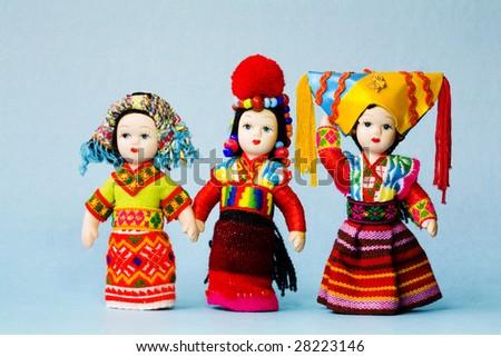 chinese  minority  doll - stock photo