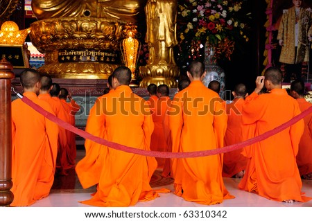Chinese monk - stock photo