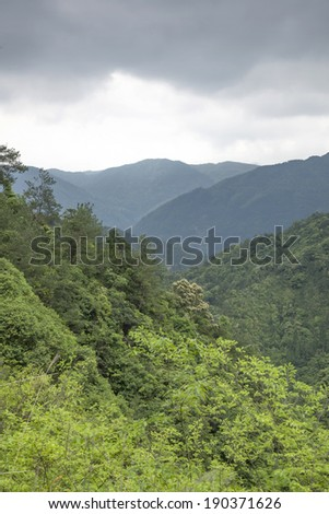 Chinese mountain landscape