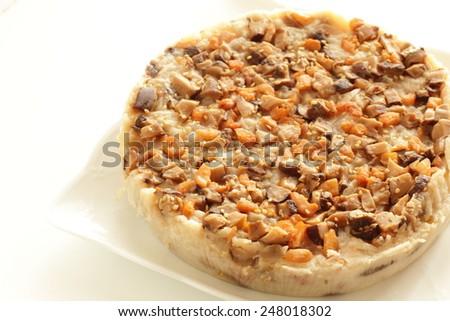 Chinese new year food, turnip cake Lo bak go - stock photo