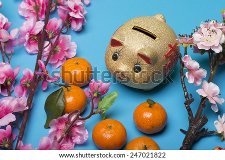Chinese new year's decoration for Spring festival - stock photo