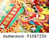 Chinese New Year traditional decoration,Closeup. - stock photo