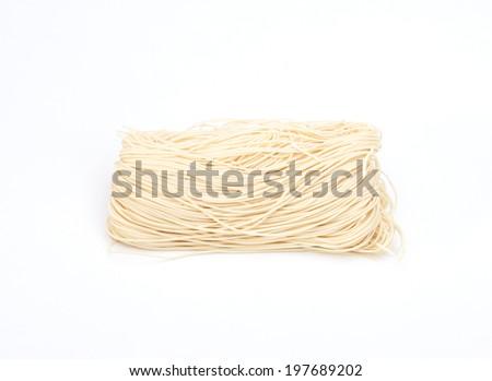 Chinese noodle style isolated on white background - stock photo