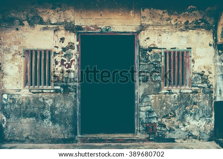 Chinese Old Door - stock photo