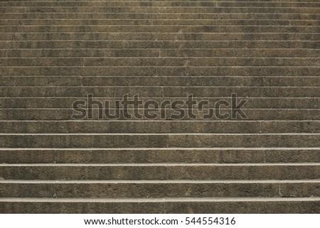 Chinese old stone floor connect with  stone stairs