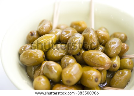 Chinese olives in a bowl