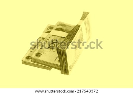 chinese one hundred cash on a white background