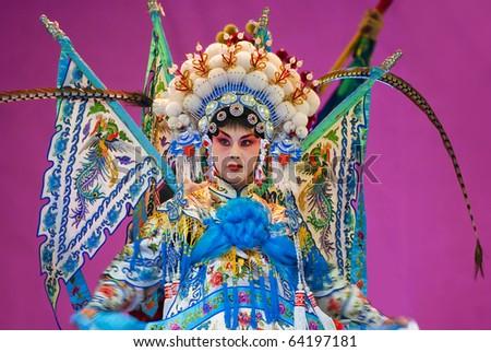 Chinese opera actress - stock photo