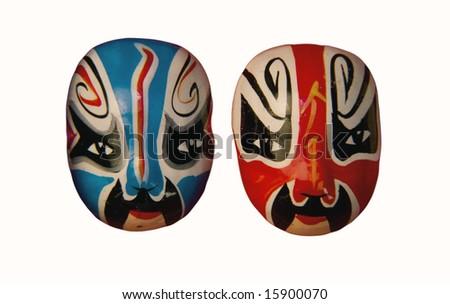Chinese Opera masks - stock photo
