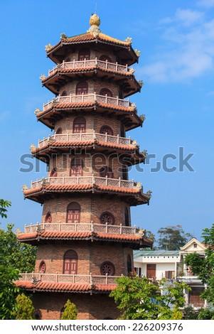 Chinese pagoda in Hue, Vietnam