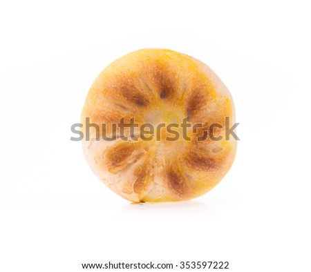 Chinese pastry isolated on white background