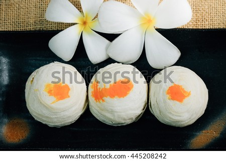 Chinese Pastry or Moon cake, Chinese festival dessert.  - stock photo
