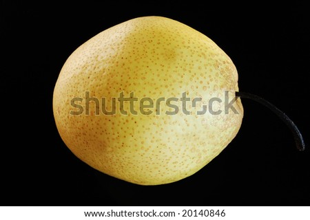 Chinese pear on black background