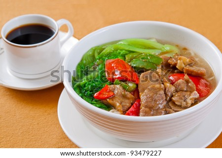 chinese pork noodle