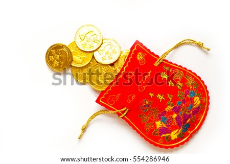 Chinese red bag of money, tradition culture of Chinese Celebration