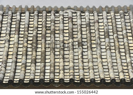 Chinese roof. - stock photo