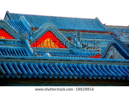 Chinese roofs - stock photo