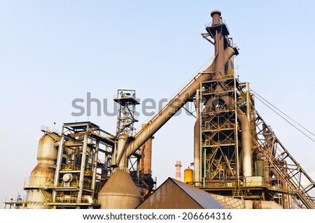 Chinese steel mill equipment - stock photo