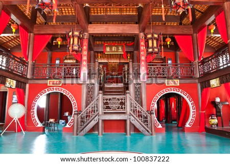 Chinese teahouse in Thailand. - stock photo